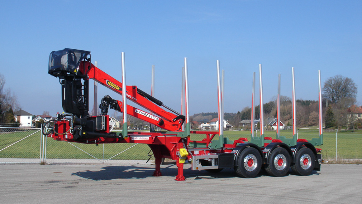 Delivery Of Special Stanchion Semi Trailer With Epsilon Crane